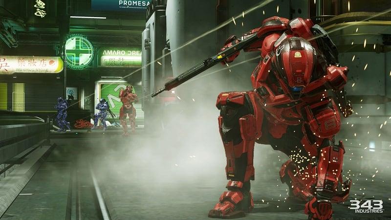 Halo 5 Gaurdians: Multiplayer screen - taken by 343